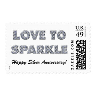 25th Silver Anniversary Postage