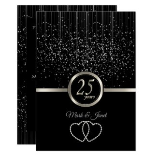 25th Silver Anniversary Starlights Invitation