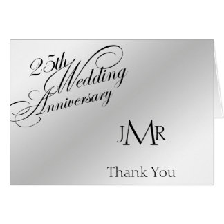 25th Silver Anniversary Thank You