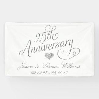 25th Silver Wedding Anniversary Banner