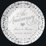 "25th Silver Wedding Anniversary Decorative Plate<br><div class=""desc"">25th Silver Wedding Anniversary Decorative Plate</div>"