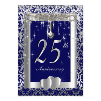 25th Silver Wedding Anniversary | DIY Text Card