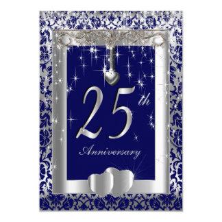 25th Silver Wedding Anniversary | DIY Text Invitation