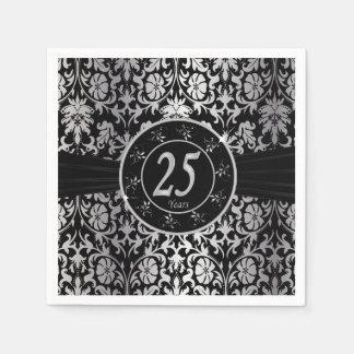 25th Silver Wedding Anniversary | DIY Text Napkin