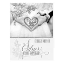 25th Silver Wedding Anniversary for Couple Postcard