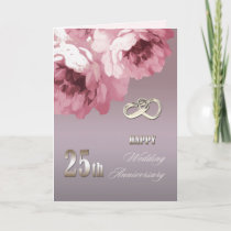 25th Silver Wedding Anniversary Greeting Cards