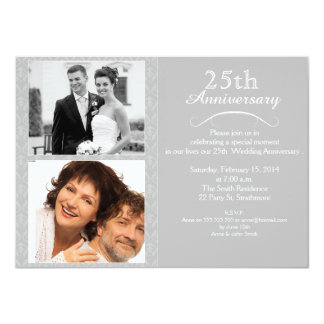 25th wedding anniversary invitations, 2100+ 25th wedding, Wedding invitations