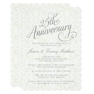 25 Anniversary Invitations Zazzle