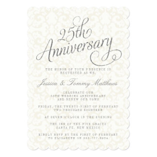 25th anniversary invitation template orderecigsjuicefo 25th anniversary invitations 2700 25th anniversary announcements birthday invitations stopboris Image collections