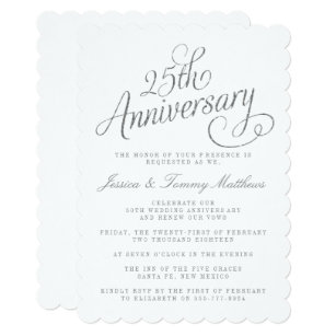 25th wedding anniversary invitations koni polycode co