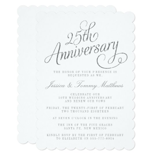 25th Wedding Anniversary Invitation Cards For Parents: 25th Silver Wedding Anniversary Invitations