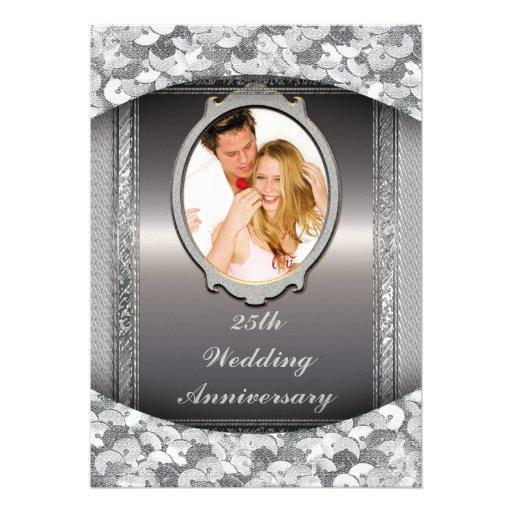 25th Silver Wedding Anniversary Party Invitation