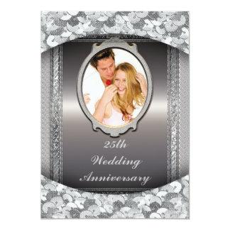 """25th Silver Wedding Anniversary Party Invitation 5"""" X 7"""" Invitation Card"""