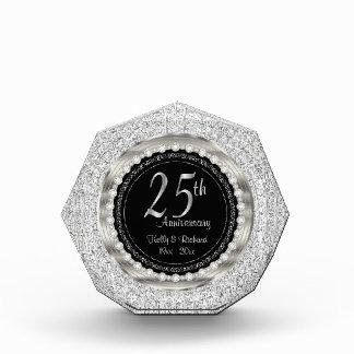 25th Silver Wedding Anniversary Photo Block
