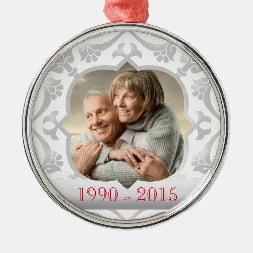 Wedding Gift Experiences Australia : 25th silver wedding anniversary photo ornament Zazzle