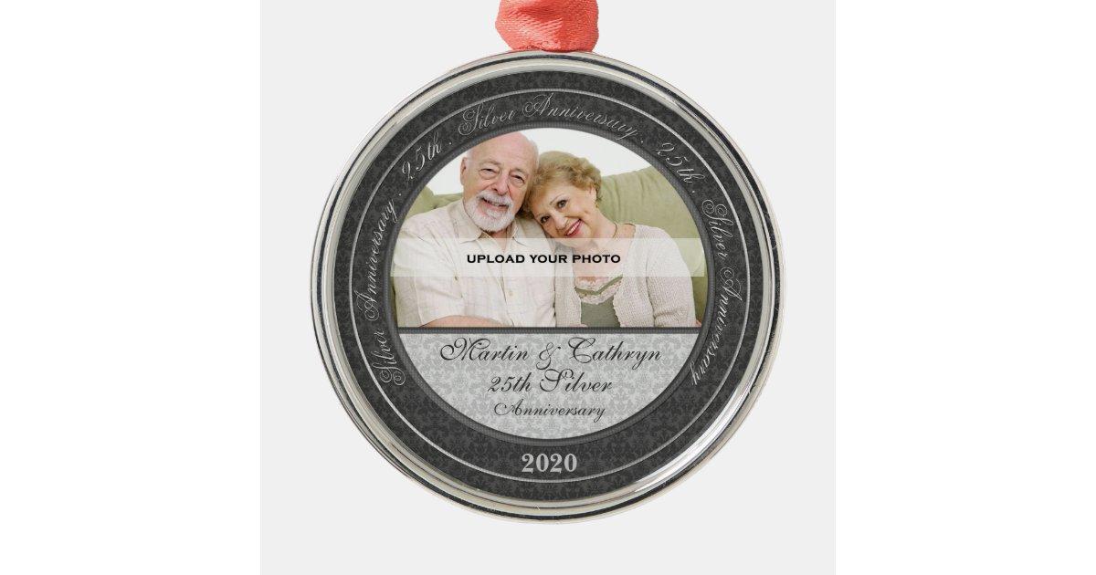 25th Silver Wedding Anniversary Photo Ornament Zazzle