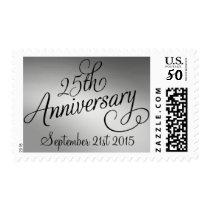 25th Silver Wedding Anniversary Postage