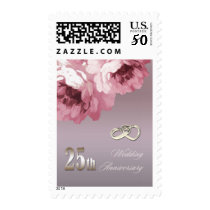 25th Silver Wedding Anniversary Postage Stamps
