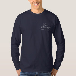 25th Silver Wedding Anniversary Scroll - Back View T-Shirt