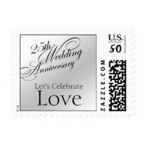 25th Silver Wedding Anniversary Stamp