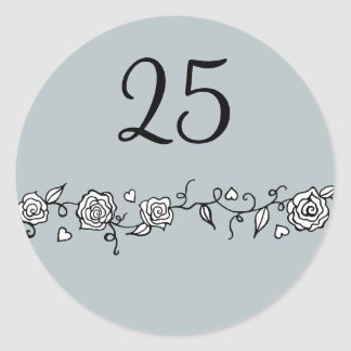 25th Silver Wedding Anniversary Stickers