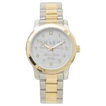 25th Silver Wedding Annivsersary Custom Watch