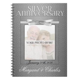 25th Silver Wedding Annivsersary Guest Book Notebook
