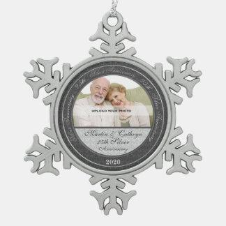 25th Silver Wedding Annivsersary   Photo Ornament