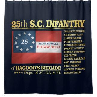 25th South Carolina Infantry (BA2) Shower Curtain