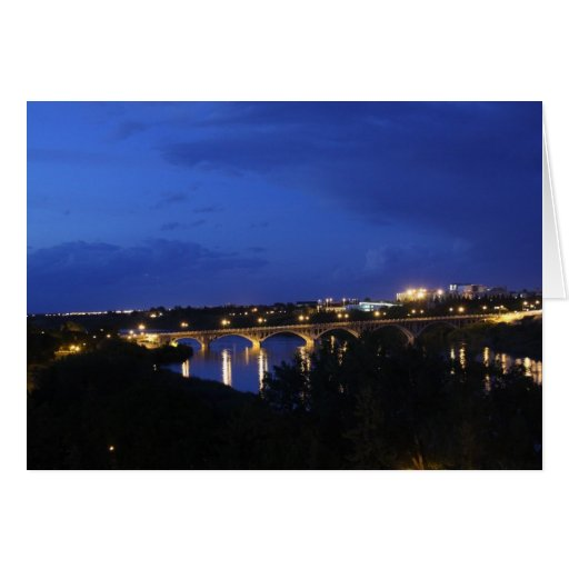 25th St Bridge Greeting Card