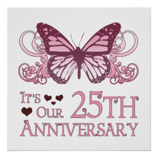 25th Wedding Aniversary (Butterfly) Poster
