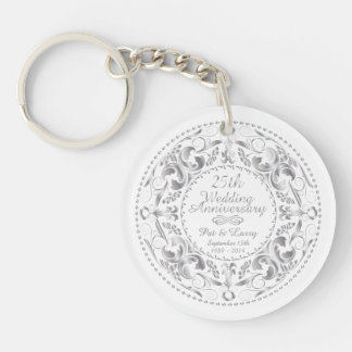 25th Wedding Anniversary 1 - Key Chain