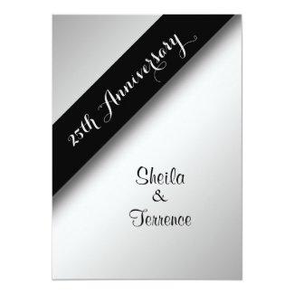25th Wedding Anniversary 5x7 Paper Invitation Card