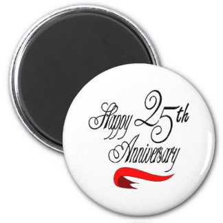 25th wedding anniversary a 2 inch round magnet