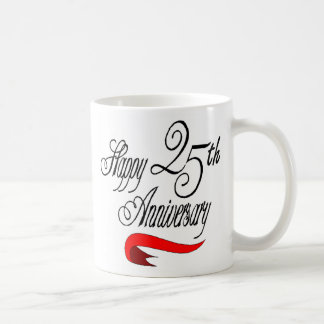 25th wedding anniversary a coffee mug