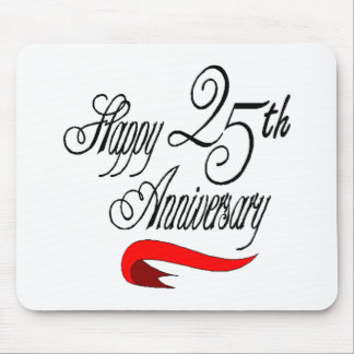 25th wedding anniversary a mouse pad