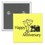 25th Wedding Anniversary Buttons