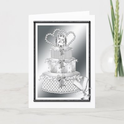 25th Wedding Anniversary Greeting Cards by Ricaso Greetings