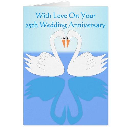 25th Wedding Anniversary Gift Experiences : 25th Wedding Anniversary Card Zazzle
