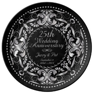 25th Wedding Anniversary - Ceramic Plate