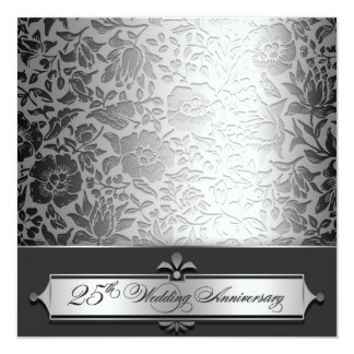 25th wedding anniversary chic invitations