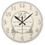25th Wedding Anniversary Clocks COUPLES NAMES DATE