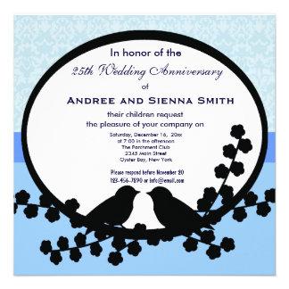 25th Wedding Anniversary Custom Invitations