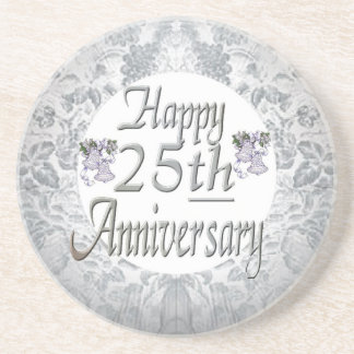 25th Wedding Anniversary Drink Coaster