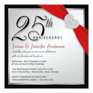 25th Wedding Anniversary - Elegant Invitations