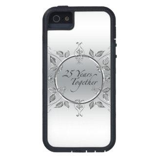 25th Wedding Anniversary Elegant Scrolls iPhone 5 Case