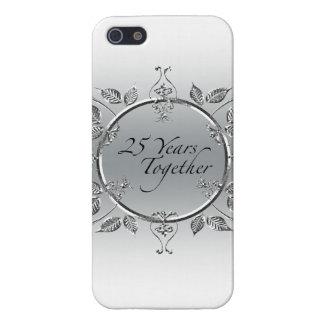 25th Wedding Anniversary Elegant Scrolls iPhone 5 Covers