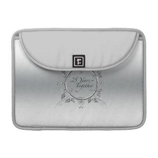 25th Wedding Anniversary Elegant Scrolls Sleeves For MacBook Pro