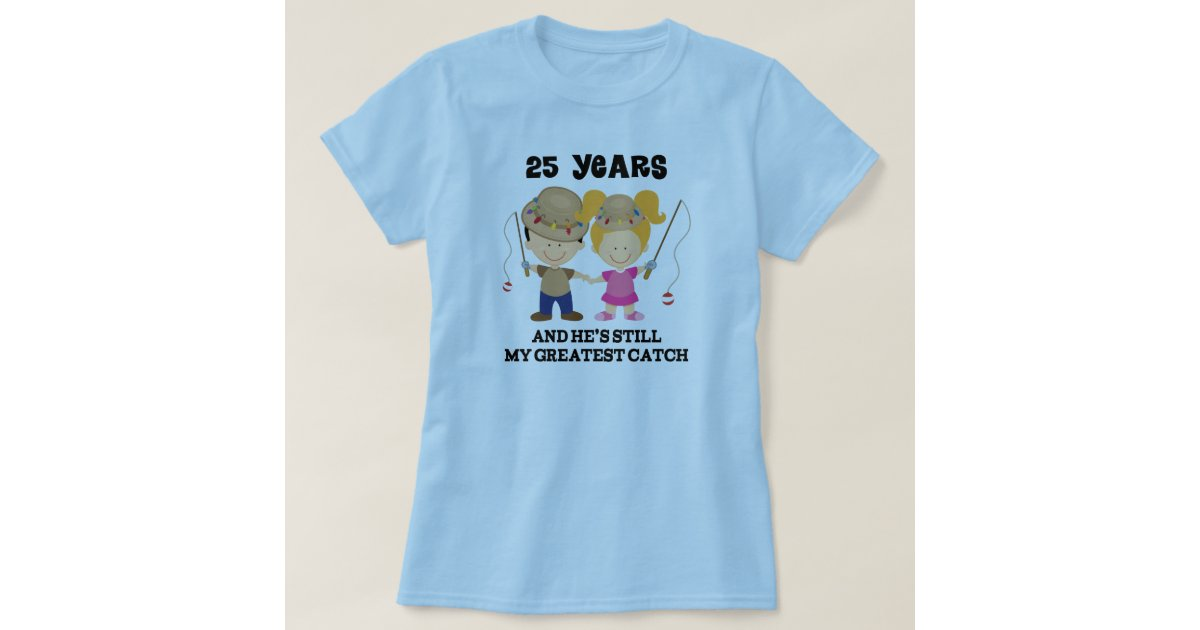 25th Wedding Anniversary Gift For Her T Shirt