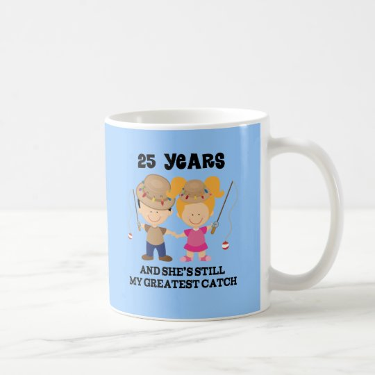 25th Wedding Anniversary Gift Ideas For Him: 25th Wedding Anniversary Gift For Him Coffee Mug